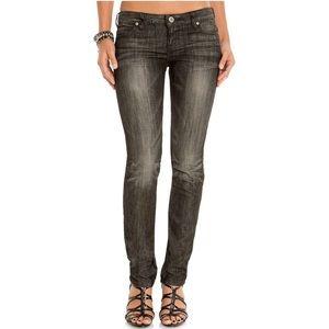 Black Distressed Guess Foxy Skinny Leg Jeans